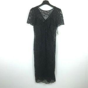 Donna Ricco 8 Black Lace Dress 8BE20